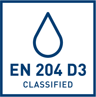 EN 204 D3 water resistance classification