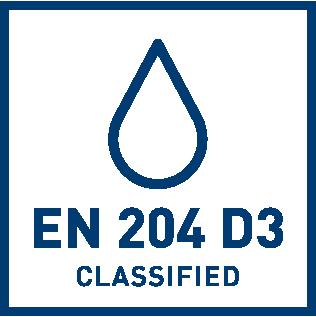 EN 204 D3 water resistance classification