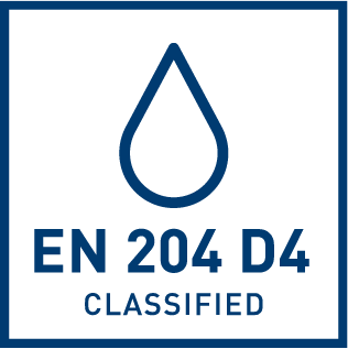 EN 204 D4 water resistance classification