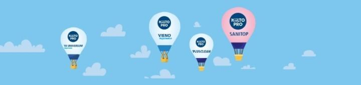 Banner picture of Kiilto products which promote high indoor-air quality